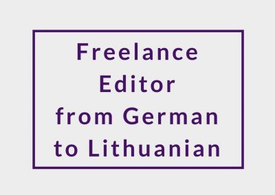 Freelance Editor (from German to Lithuanian)