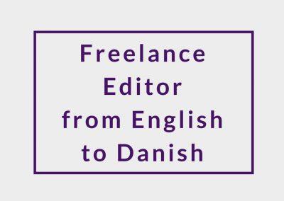 Freelance Editor from English to Danish