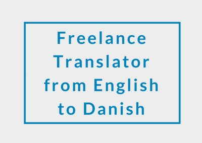 Freelance Translator from English to Danish