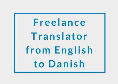 Freelance Translator from English to Danish