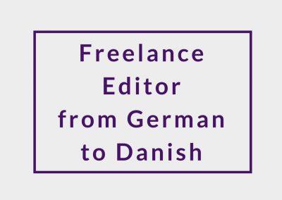 Freelance Editor from German to Danish