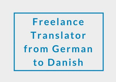 Freelance Translator from German to Danish
