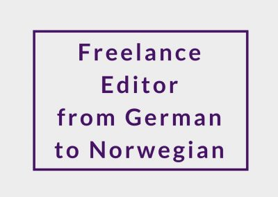 Freelance Editor from German to Norwegian