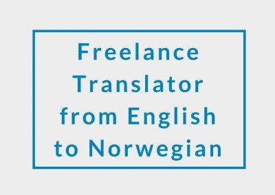 Freelance Translator from English to Norwegian