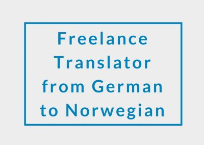 Freelance Translator from German to Norwegian