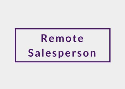 SALES SPECIALIST (IN THE OFFICE / AT HOME)