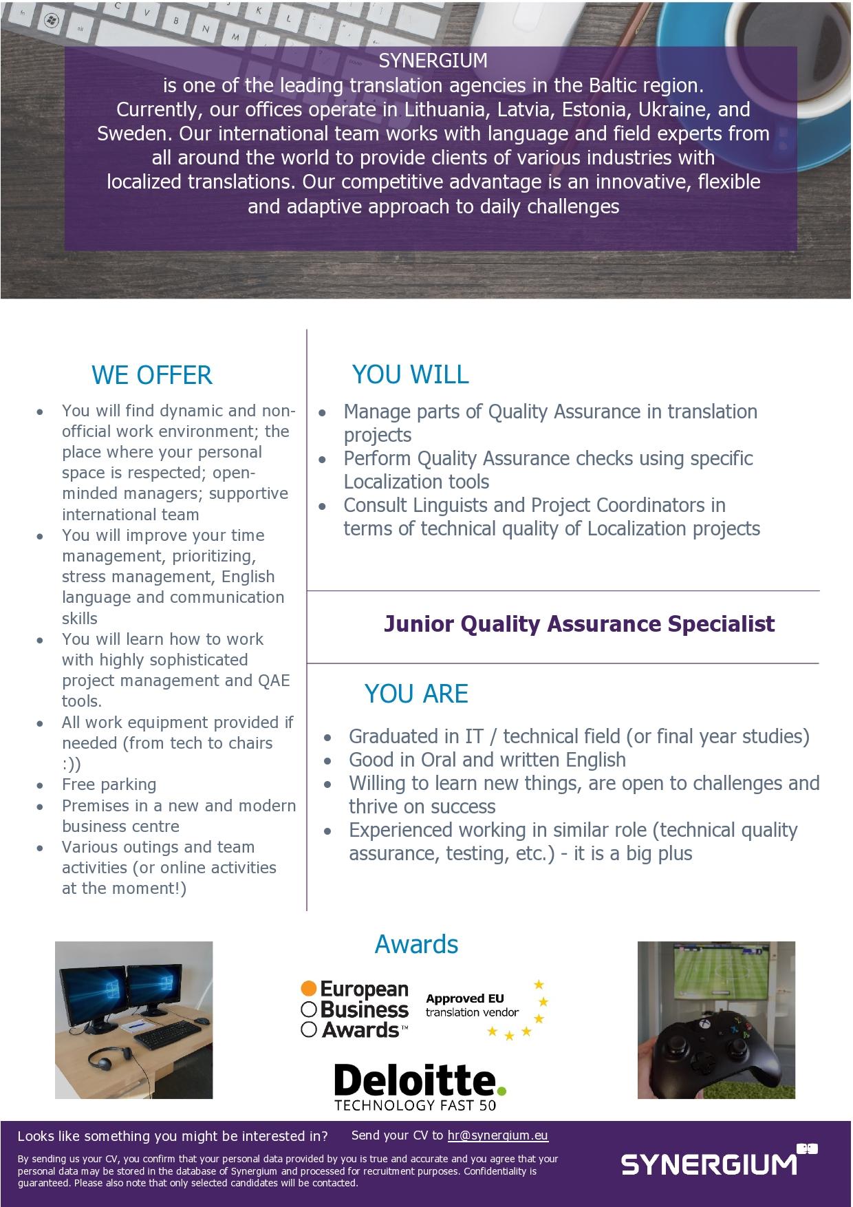 Junior Quality Assurance Specialist